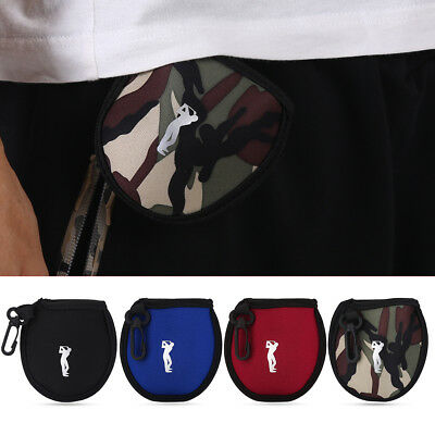 Mini Neoprene Golf Ball Bag Holder Golf Accessory Pouch Small Waist Pack Utility