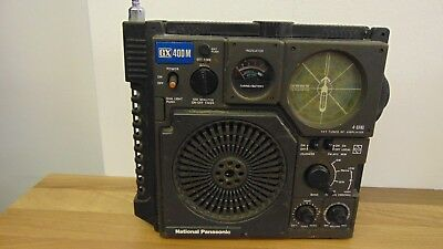 National Panasonic GX400M Broadcast Receiver Radio FM Mw SW Marine Retro Vintage