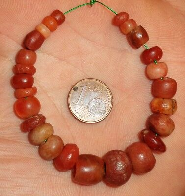 12mm Perles Ancien Afrique Ancient Mali African Neolithic Agate Carnelian Beads