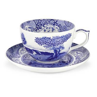 Spode Blue Italian Jumbo Cup and Saucer