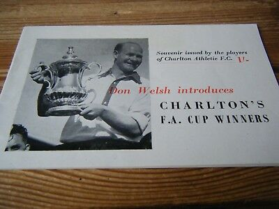 1947   Charlton Athletic  F.a.cup Winners  Souvenir  Player Issued Brochure Vgc