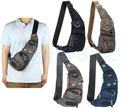 Innturt Men's Women's Nylon Sling Bag Chest Shoulder Hiking Bicycle Bag Backpack