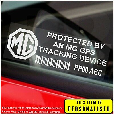 4 x MG PERSONALISED GPS Tracking Device-Security Stickers-Alarm-Tracker,Car,Sign