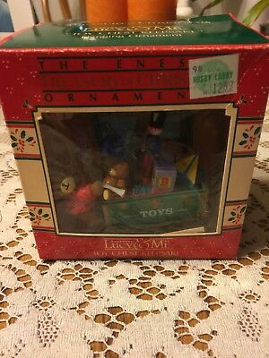 Enesco Treasury of Christmas Ornament Lucy and Me Toy Chest Keepsake 1988