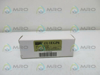 Dayton 1Egp6 Relay Socket *new In Box*