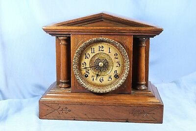 Ingraham Rare Antique Mantle Clock 100% All Original - Beautiful & Runs Great!