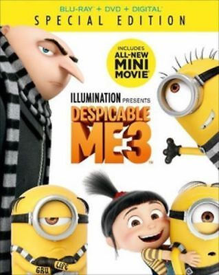 Despicable Me 3 - (Blu-ray, DVD, digital HD & slipcover - 2017) NEW