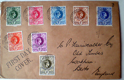 Swaziland - 1938 KGVI issues up to 1 shillings on a first day cover