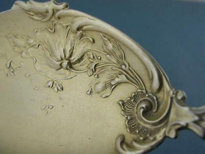 800 Silver Berry Serving Spoon ~ Art Nouveau floral bowl & Cherub Angel handle