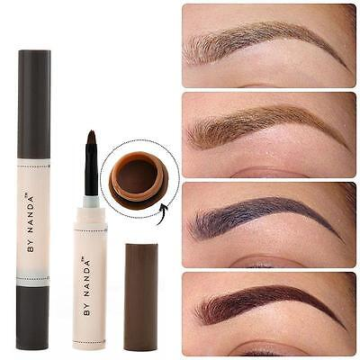 Eye Brow Dye Cream Pencil Waterproof Brown Tint Paint Henna Eyebrow Set JZUS