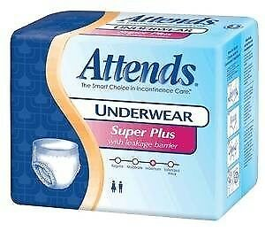 Attends Underwear Super Plus Absorbency, Youth/Small, 20 count
