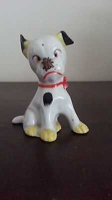 """German Porcelain Dog Fly Bug Insect Nose Figurine Comical Funny Cute 3""""x3"""""""
