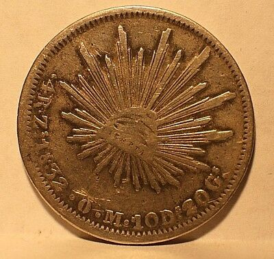 1832 MEXICO 4 Reales ZACATECAS MINT ZsOM SILVER COIN, Fine+  KM# 375.9