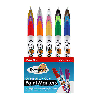 Thornton's Art Supply Oil-Based Paint Markers, Choice of Point Size