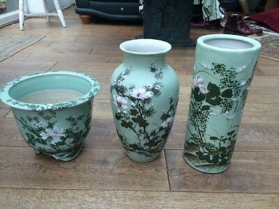 Early 20th  Century Chinese porcelain  set of 3 vases