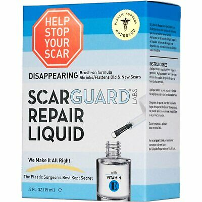 Scarguard Labs Repair Liquid, Invisible Brush-On Silicone Sheet, 0.5 oz