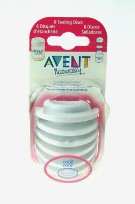 New Philips AVENT Classic Baby Bottle Food Milk Sealing Discs / Storage 6 Pack
