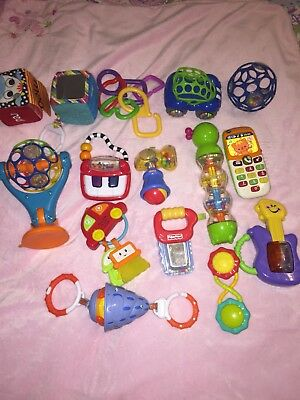 Large Lot Of Baby Toddler Developmental Toys Bright Starts Vtech Fisher Price +
