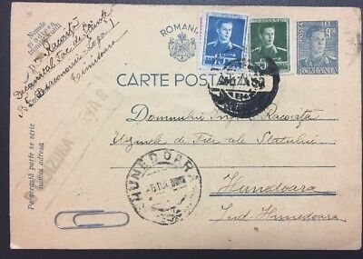 Romania 1945 Censor Stationery Post Card Cenzurat Deva8