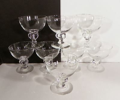 Brodegaard Kristine Champagne Sherbet Clear Glass Crystal Goblet (s) LOT OF 8