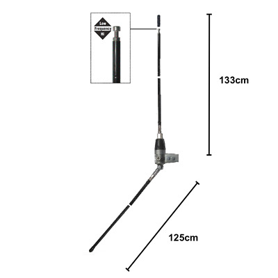 Mini Boomerang 172cm 450W CB FUNK HOCH BASIS STATION's  ANTENNE  1/4 Dipol