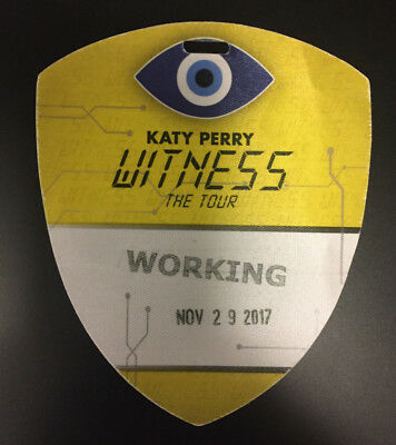 Katy Perry Witness Tour Backstage Pass and Local Crew Shirt