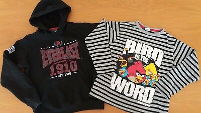 Boys bundle VGC Everlast boxing Hoodie & Angry birds top 8-9-10yrs