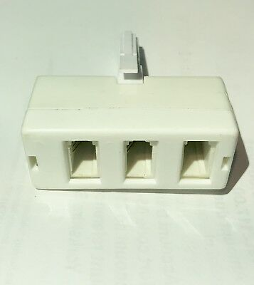 BT Telephone Phone Socket Triple Adapter Three way Adaptor Splitter / Connector