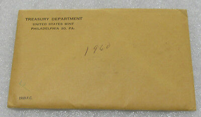 1960 U.S. Proof Set The Coins are U.S. Mint Sealed in a flat pack & envelope