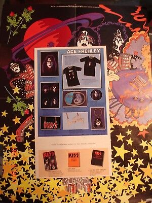 KISS Ace Frehley    Poster &  Order Form Insert Original 1978  Great For Framing