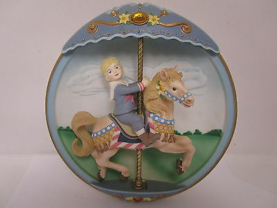 Classic Vintage The Bradford Exchange  Musical Carousel Horse Collectorable item