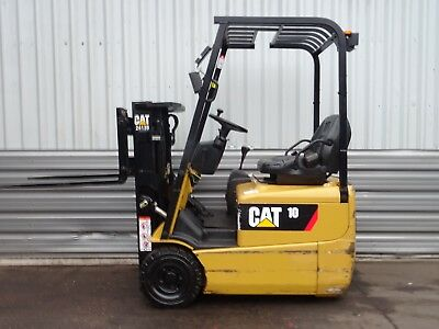 3W CAT EP10KRT. 2000mm LIFT USED ELECTRIC FORKLIFT TRUCK. (#2014)