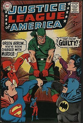 Justice League Of America #69 Great Cover Glossy Vf 8.0 White Pages!