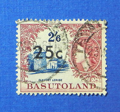 1961 BASUTOLAND 25c SCOTT# 69 S.G.# 66 USED                              CS20241
