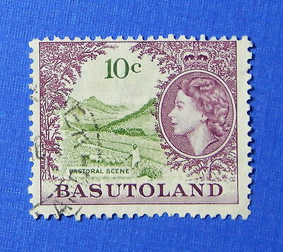 1962 BASUTOLAND 10c SCOTT# 78 S.G.# 75 USED                              CS20273