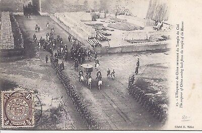 China 1900s postcard of Emperor returning from Temple of Heaven used