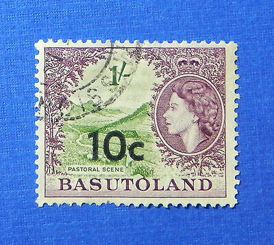 1961 BASUTOLAND 10c SCOTT# 67 S.G.# 64 USED                              CS20225