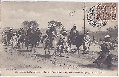 China c1900 postcard of Officials on way to Palace