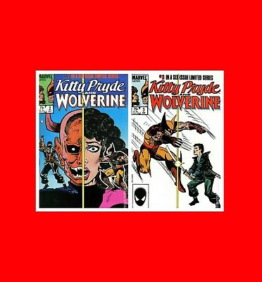 2 Fine Marvel Xmen(X-Men)Comics:kitty Pryde And Wolverine(1984)Issues#2 3:bg^brd