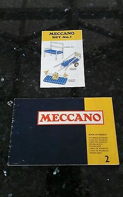 Pre-owned meccano book of models #2 and meccano set #1 booklet.