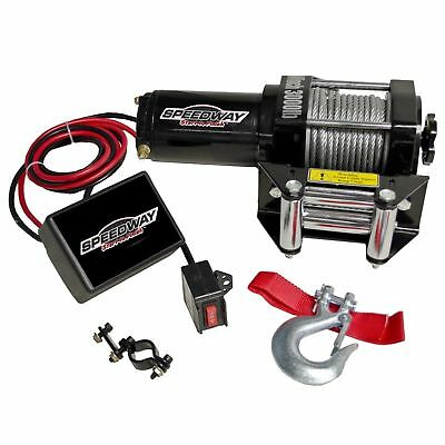 Speedway 7253 3000-Pound Line Pull Capacity Electric Winch Black