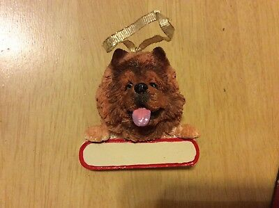 E&S IMPORTS Christmas Pet Lover CHOW CHOW Dog Ornament Gift U Personalize It!