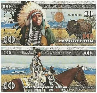 The United States - 10 Dollars - Native Americans (2016) Fantasy Note