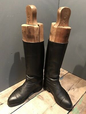 Antique Vintage Wooden Boot Tree Lasts Inc Leather Boots