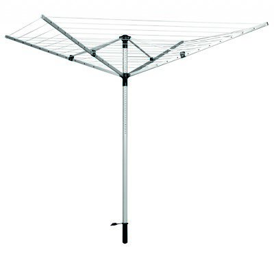 SupaHome Rotary Airer With Ground Spike & Cover 165ft