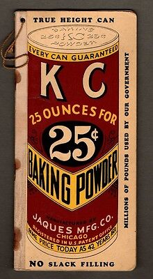 1933 KC Baking Powder Notebook & 1917 KC Powder Sales Ticket