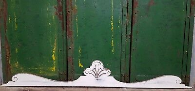 Shabby Carved Wood Pediment Antique French Architectural Crown Salvage Panelling