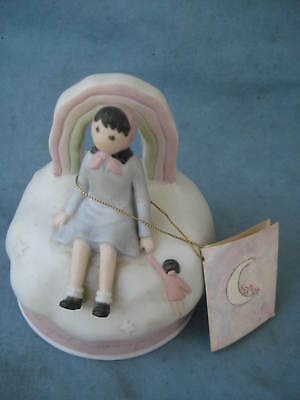 Vintage Flavia Weedn Music Box - Somewhere Over The Rainbow - 1989