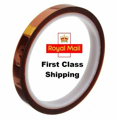 5mm - 66m 200ft High Temp. Heat Resistant Kapton Polyimide Electrical Tape