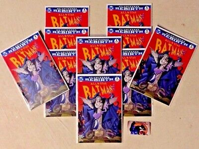 LOT of 10 All Star Batman #1 Color Variant ONLY 3000 MADE MCFARLANE HOMAGE COVER
